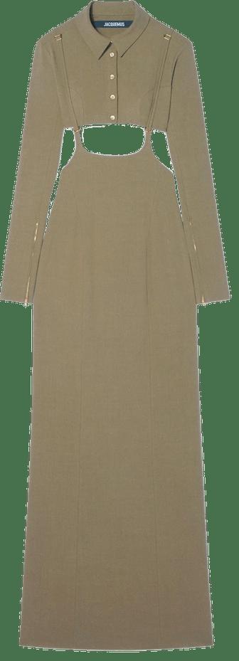 Trompe L'oeil Long Dress