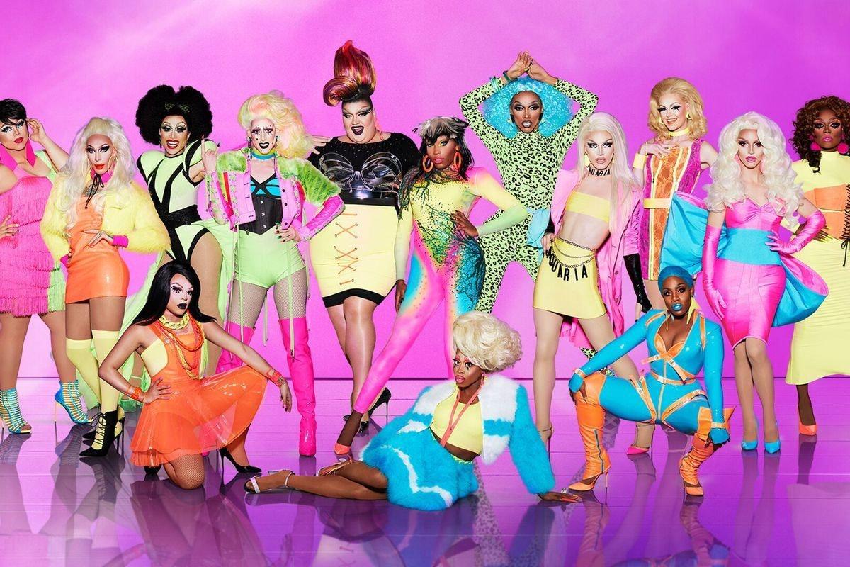 The cast members of RuPaul's Drag Race Season 10 in full makeup and costume