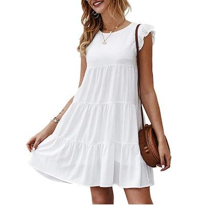 KIRUNDO Flowy Pleated Dress