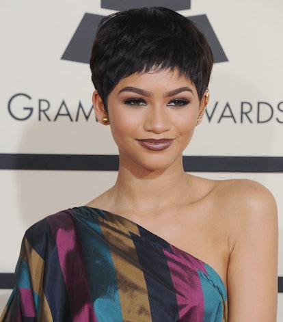 Zendaya's spiky pixie haircut is reminiscent of the early aughts.