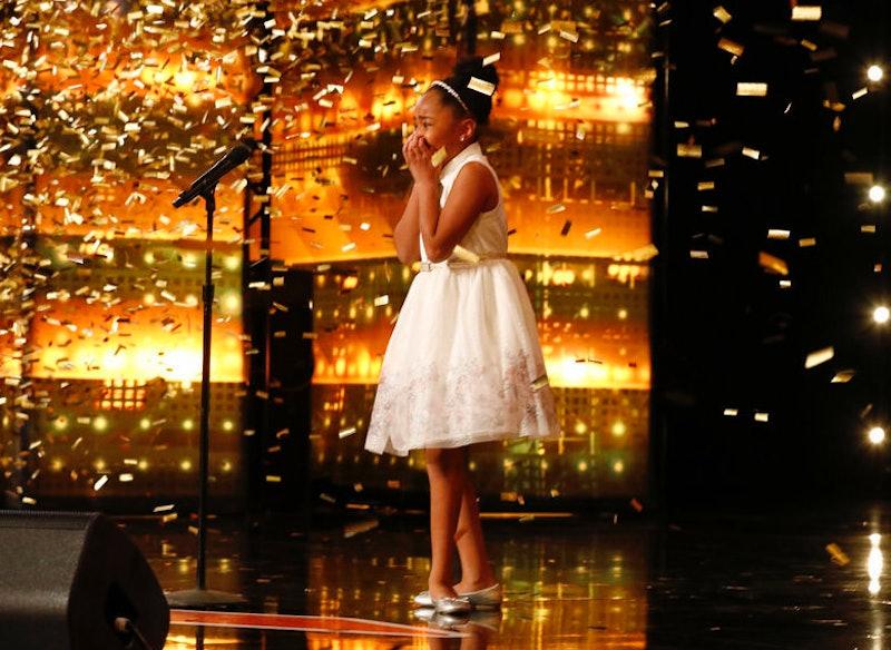 Victory Brinker receives the golden buzzer on America's Got Talent.