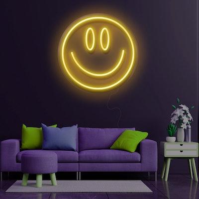 Design Neon Emoji Smile Neon Sign