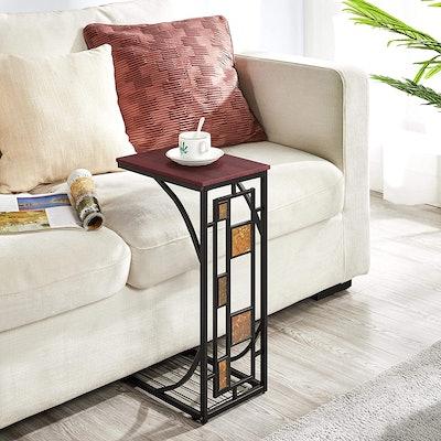 Topeakmart Sofa Side Table