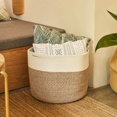 "Goodpick Large Cotton Rope Basket (15.8""x15.8""x13.8"")"