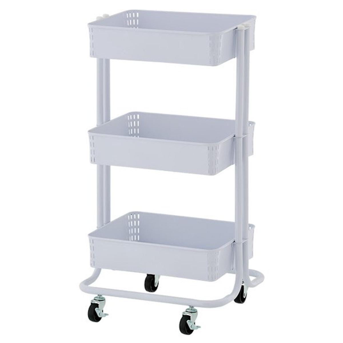 3-Tier Metal Craft Storage Cart