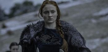 Sophie Turner as Sansa Stark in The Battle of the Bastards