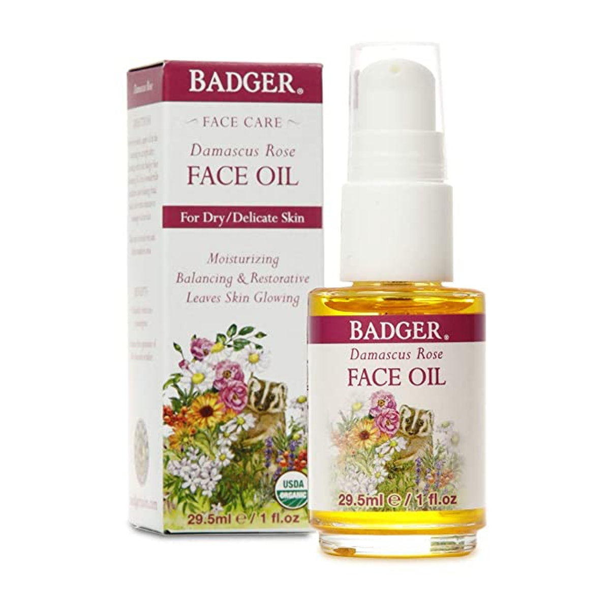 Badger Damascus Rose Antioxidant Face Oil