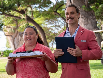 Jolene Purdy and Murray Bartlett in HBO's 'The White Lotus' via the HBO press site