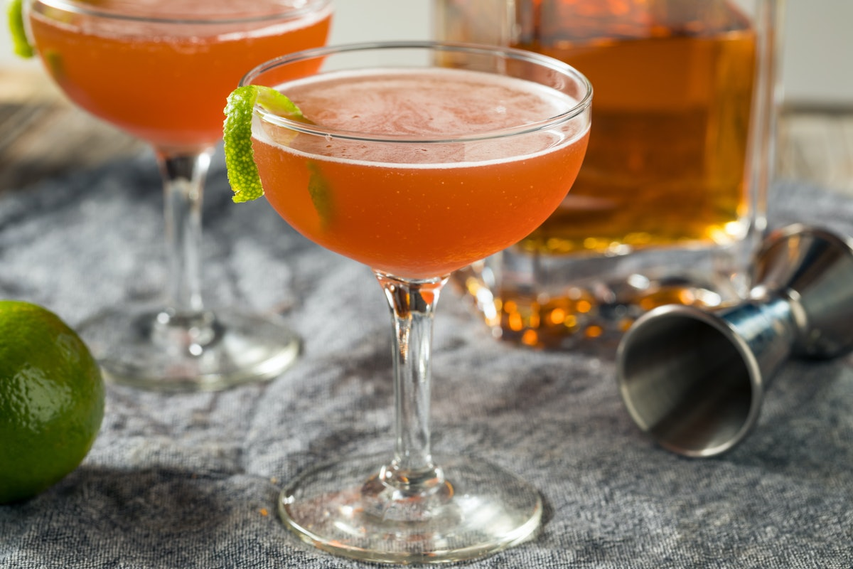 The Japanese Cocktail only has three ingredients and is so simple to make at home.