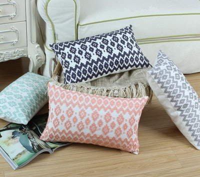 Aitliving Embroidered Throw Pillow Cover (12x20)