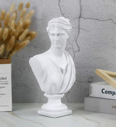 Beonueni Roman Goddess of Wisdom Bust Statue (12-Inch)