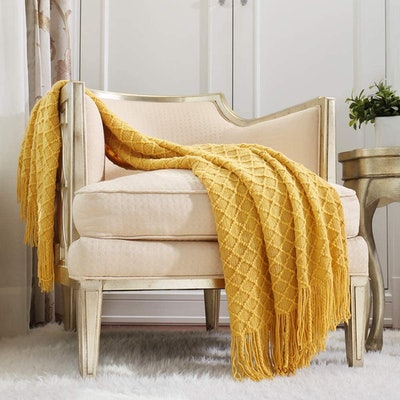 Crevent Knitted Throw Blanket (50''X60'')