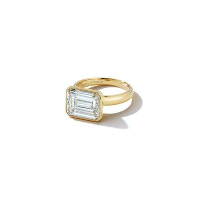 Bespoke East-West Emerald Cut Diamond Ring (Price Upon Request)