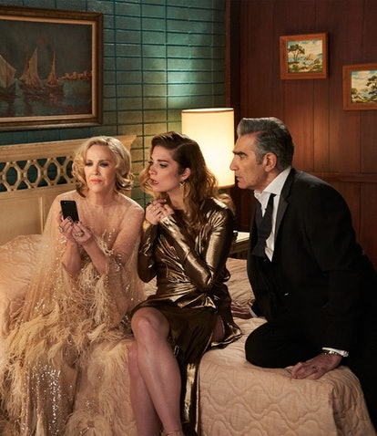 David, Moira, Alexis, and Johnny Rose on 'Schitt's Creek,' a TV show many people get attached to