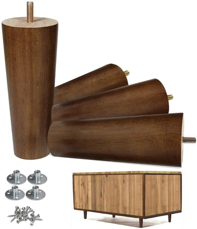 AORYVIC Wood Furniture Legs (Pack of 4)