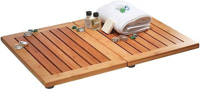 Premium Bamboo Bathroom Floor Mat