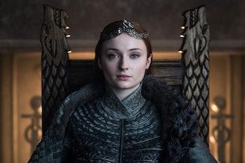 Sophie Turner as Sansa Stark in the Game of Thrones Series Finale