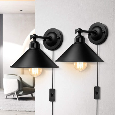 AEOREAL Plug in Wall Sconce (2-Pack)