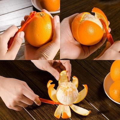 Xloey Citrus Fruit Peelers (6 Pack)