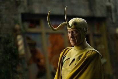 Richard Grant as Classic Loki in the Loki Lair in 'Loki'
