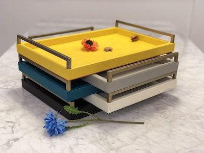 WV Yellow Modern Decorative Tray