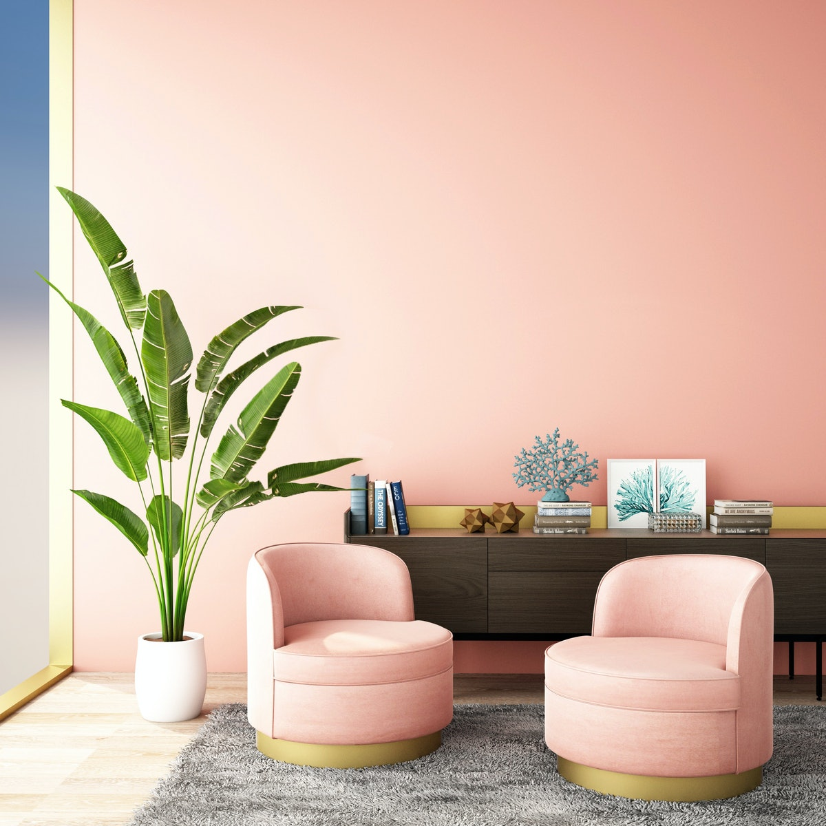 Soft pinks make for a soothing bedroom paint color.