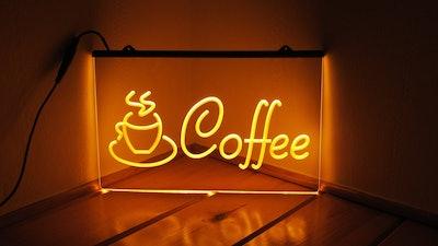 Home Cinema Plus Coffee - Acrylic LED Neon Light Sign