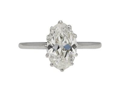 Solitaire Old Mine Diamond Ring, Circa 1920
