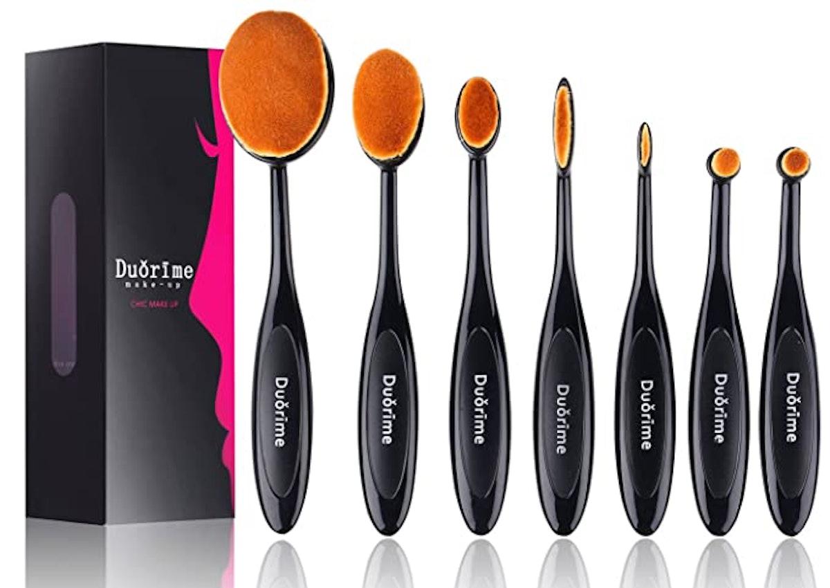 Duorime Oval Makeup Brush Set (7-Piece)