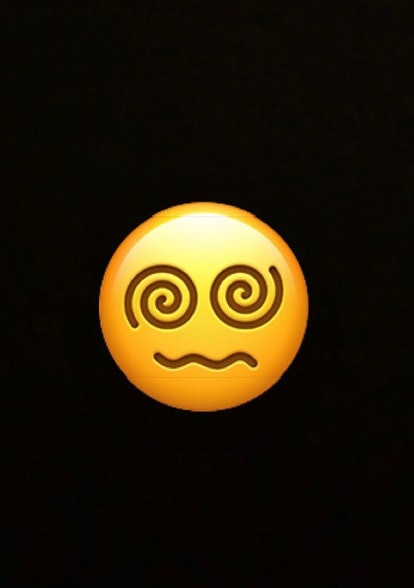 The face with the spiral eyes emoji is commonly used to indicate dizziness, but may also represent hypnosis or other forms of disorientation.