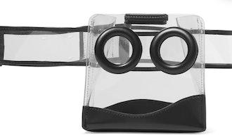 Black Deon PVC And Leather Belt Bag