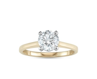 Geometric Solitaire Engagement Ring