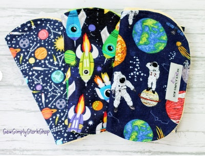 Outer Space Theme Burp Cloths