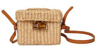 Tiff Rattan Woven Belt Bag