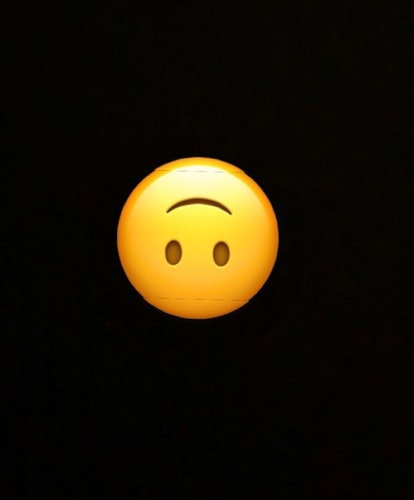 The upside down smiley face emoji is great for reacting to someone's statement that deserves a sarcastic response.
