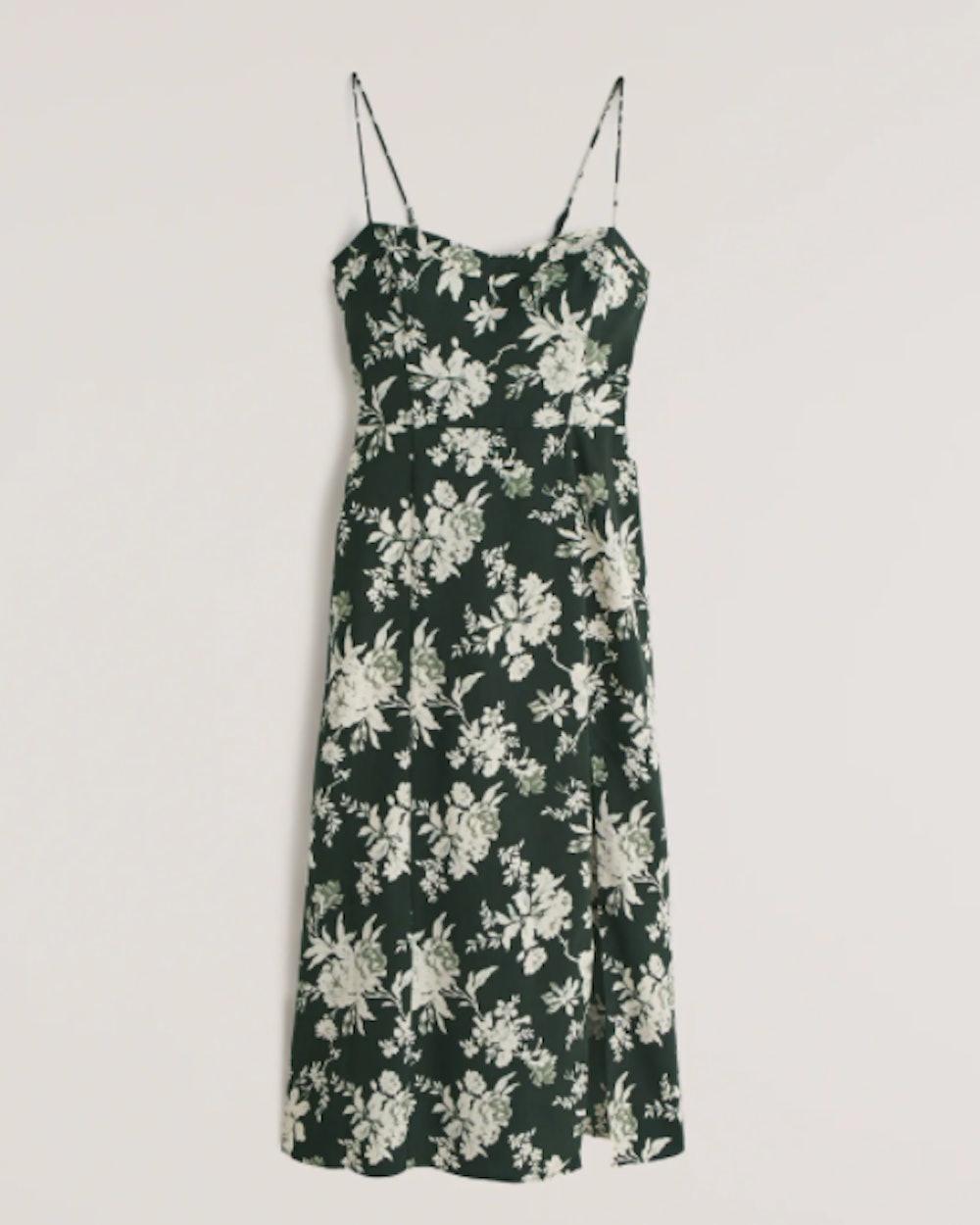 High-Slit Midaxi Dress