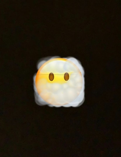 The face in the clouds emoji conveys a foggy state of mind, confusion, or even a sense of calm bliss.