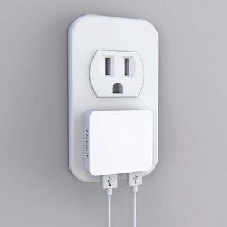 Nekmit Dual Port Flat USB Wall Charger