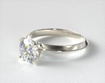 14K White Gold Diamond Pavé Basket Engagement Ring
