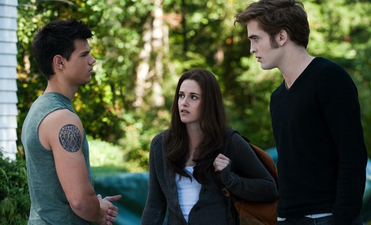 Taylor Lautner, Kristen Stewart, and Robert Pattinson in 'Twilight: Eclipse.'
