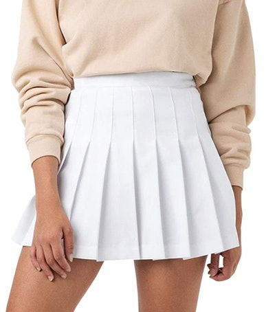 Scktoo Pleated Skirt with Lining Shorts