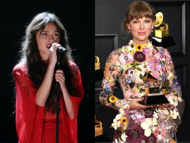 "Olivia Rodrigo gave Taylor Swift writing credit on her song ""Deja Vu."""