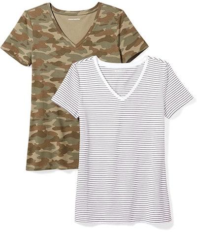 Amazon Essentials V Neck T-Shirts (2-Pack)