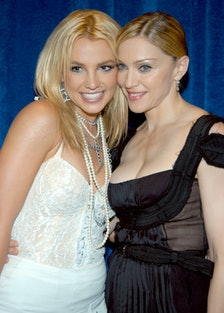Britney Spears and Madonna smiling