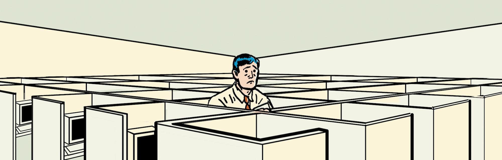 man at office