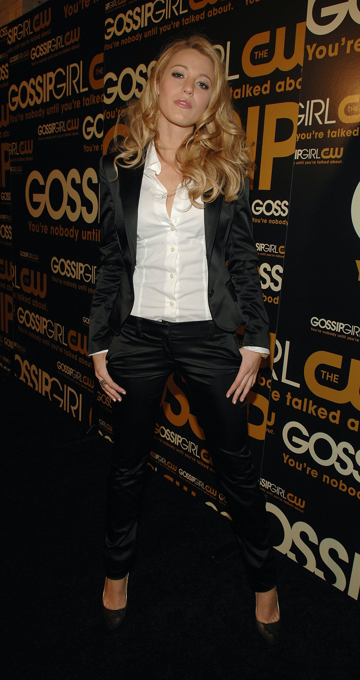 Blake Lively in a 2007 suit.