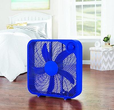 Mainstays 20-Inch Blue Box Fan