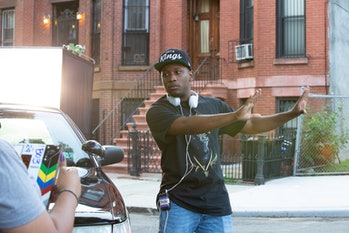 Stefon Bristol directing on the set of See You Yesterday