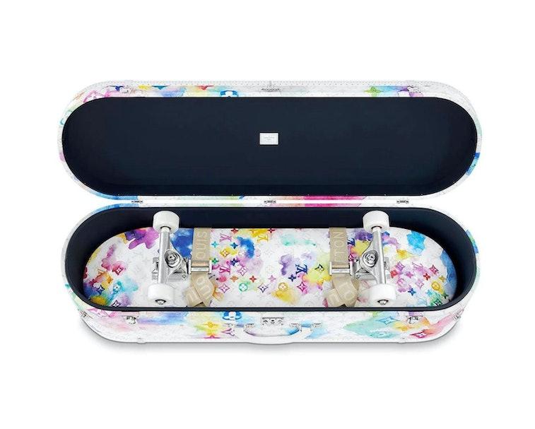 Louis Vuitton Watercolor Skateboard and Case
