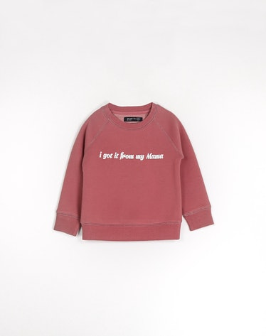 'I Got It From My Mama' Little Babes Crew Neck in Rosewood